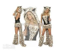 Leopard Halloween Costume Cheap Quality Furry Leopard Print Furry Costume