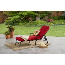 Outdoor Chaise Lounges Mainstays Belden Park Outdoor Chaise Lounge With Cushion Walmart