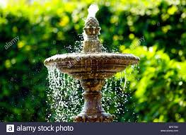 an ornamental water in a stately home garden stock photo