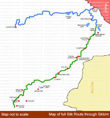 Route Maps by Silk Route Maps Sikkim Silk Route