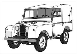 vintage land rover discovery kids n fun com coloring pages with