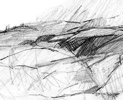 abstract pencil landscape pencil drawing abstract pencil