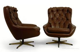 Vintage Swivel Chair Antiques Atlas Pair Of Danish Leather Swivel Chairs C1960