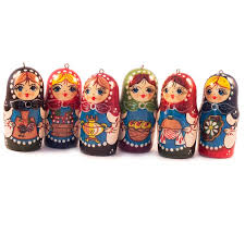 ornaments matryoshka russian ornaments