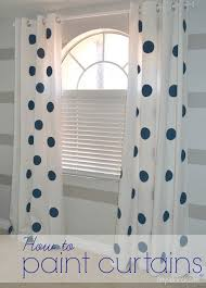 Grey And White Polka Dot Curtains Best 25 Painting Curtains Ideas On Pinterest Painted Curtains