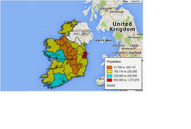 Google Fusion Tables Map Google Fusion Table Tool Heat Map Result Of 20 Irish Counties