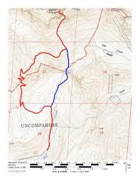 Telluride Colorado Map by Dallas Peak Climbing Hiking U0026 Mountaineering Summitpost