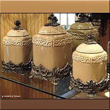 Tuscan Style Kitchen Canister Sets Details About European Style Tuscan Fruit Grape Kitchen 4 Pc