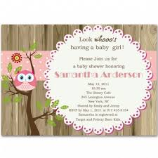 baby girl baby shower invitations owl and tree brown baby girl shower invitations bs238