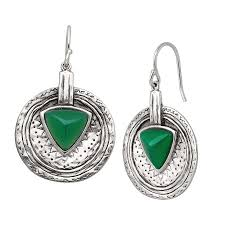 green drop earrings silpada emerald isle green agate drop earrings in