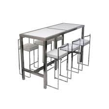 Bar Table And Stool Set Bar Table Stools Set Pair Rattan With Wheels 900mm 50s Chrome