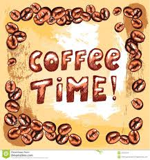 Artistic Coffee Coffee Time Poster Stock Images Image 35257254