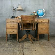 Partner Desks Home Office by Large Vintage Oak School Teachers Desk Desks Vintage And Room