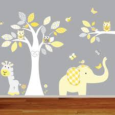 giraffe elephant monkey nursery wall decal sticker vinyl tree and giraffe elephant monkey nursery wall decal sticker vinyl tree and branch jungle decals