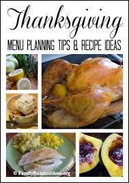 thanksgiving menu planning tips recipe ideas family balance sheet