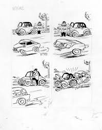 biro charles wyme 1950s cartoon car crash in stephen