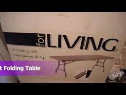 Folding Table Canadian Tire Unboxing Review For Living 6ft Folding Table Canadian Tire With