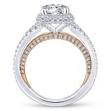 gold round rings images 18k white rose gold round halo diamond engagement ring split jpg