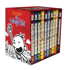 diary of a wimpy kid box of books books 1 10 jeff kinney