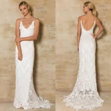 Wedding Dress Websites Plunging Necklines Lace Bohemian Wedding Dresses 2016 Thigh