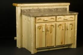 log kitchen cabinets rustic décor kitchen cabinets