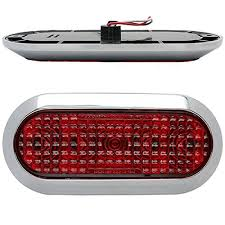 led trailer tail lights chrome 6 oval red led stop turn tail light surface mount trailer