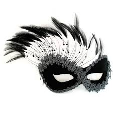 feather mask black feather mask masquerade express