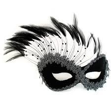 masquerade mask black feather mask masquerade express