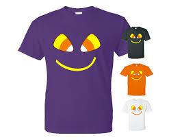 T Shirt Halloween Corn Smiley Face Halloween T Shirt