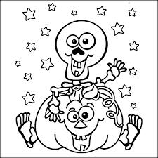 cute skeleton coloring pages pumpkin coloringstar