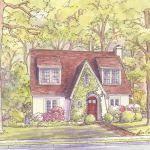 house portraits tudor style homes gallery