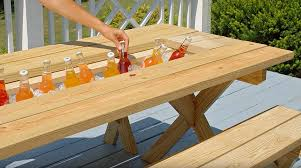 Picnic Table Plans Free Separate Benches by Picnic Table Yellawood