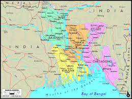 Bay Of Bengal Map Bangladesh Political Wall Map Maps Com