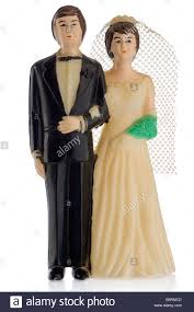 cake figurines an wedding cake figurines on white stock photo royalty free
