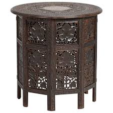 Moorish Design Moroccan Ivory Hand Painted Side Table With Moorish Design At 1stdibs