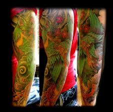 phoenix sleeve by wildthingstattoo on deviantart