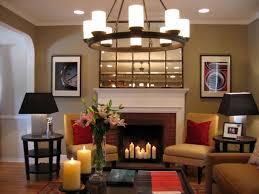living room fireplace stone exposed brick wall beautiful