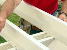 Span Tables For Pergolas by How To Cut And Install The Purlins And Capitals For A Pergola