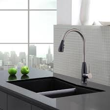 geo arch single lever pull down kitchen faucet with soap dispenser