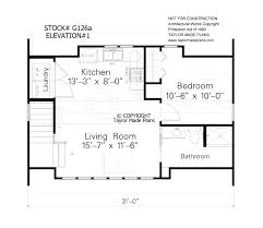 2 Car Garage Apartment Floor Plans G126a U2013 1 1 2 Story Two Car Garage With Apartment Taylor Made Plans