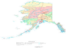 Printable Map Of United States by Alaska Printable Map