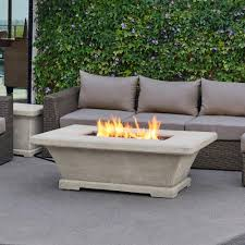 wood burning fire table unique rectangular wood burning fire pit real flame monaco 55 in