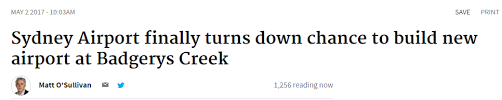 mat駻iels de bureau 悉尼新机场停建真相曝光 谭宝食言在先