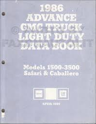1986 gmc safari chevy astro van wiring diagram original