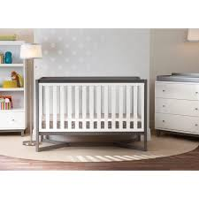 Gray Convertible Cribs by Delta Children Tribeca 3 Drawer Dresser White Gray Delta