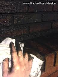 how to blackwash your brick fireplace rachel rossi