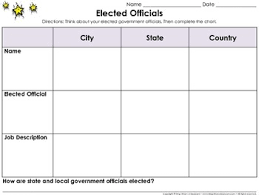 elected government officials graphic organizer 2 mayor