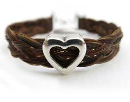 jewelry made from hair harmony hair bracelet with silver heart handmade in ireland