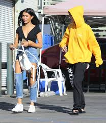 madison beer goes shopping at the halloween spirit store in