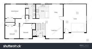 Split Bedroom Floor Plans by Split Level House Floor Plan Room Stock Illustration 112905727
